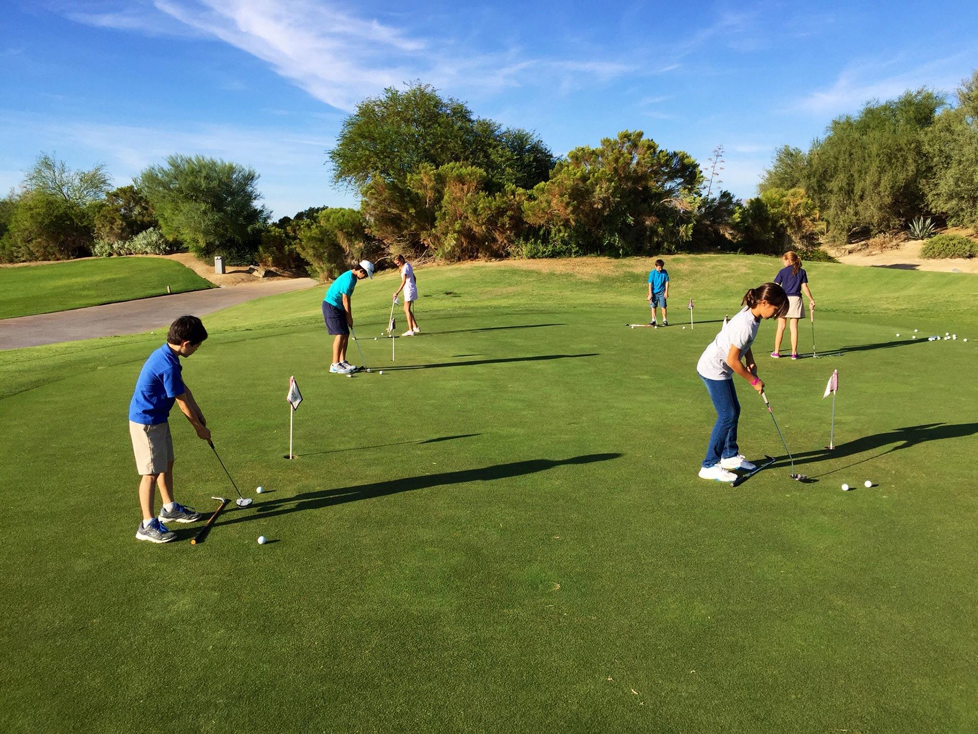 Schoolklassen op bezoek bij Golfpark Exloo